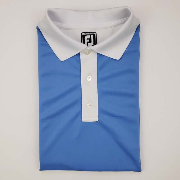 FootJoy Other - FootJoy Large Polo Shirt Blue White Athletic Fit G